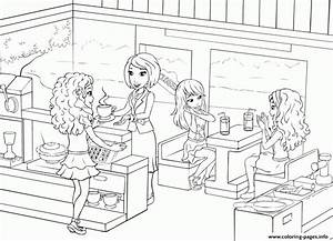 Lego Friends Restaurants Food Coffee Coloring Pages Printable