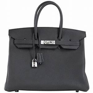 dab9f25e2f6 hermes birkin 35 bag verso black chic blue agate interior togo palladium  for sale at 1stdibs
