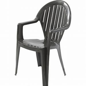 Fauteuil En Resine : fauteuil de jardin en r sine miami anthracite leroy merlin ~ Teatrodelosmanantiales.com Idées de Décoration