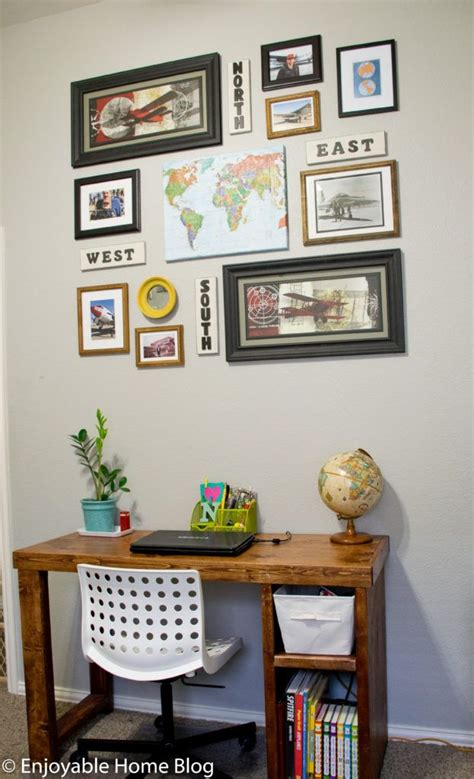 travel themed gallery wall   walls