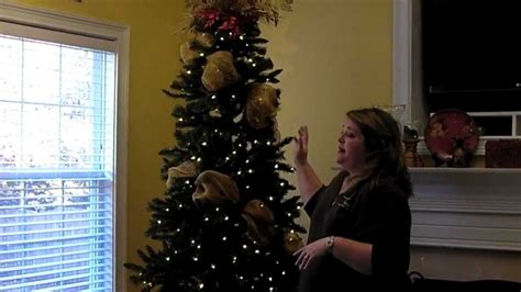 how to put mesh ribbon on a christmas tree add deco mesh to tree part 1