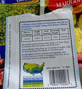 Seed Packet Labels