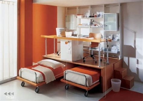 desk and bed in small room measured small space room design with double movable bed