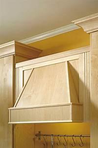 Tapered Wood Hood Diamond Cabinetry