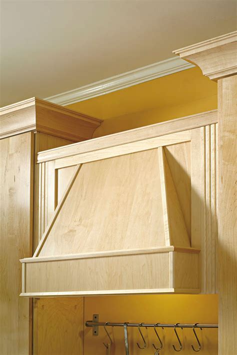 Tapered Wood Hood   Diamond Cabinetry