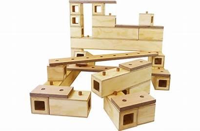 Blocks Wooden Connector Equipment Preschool Outdoor Play