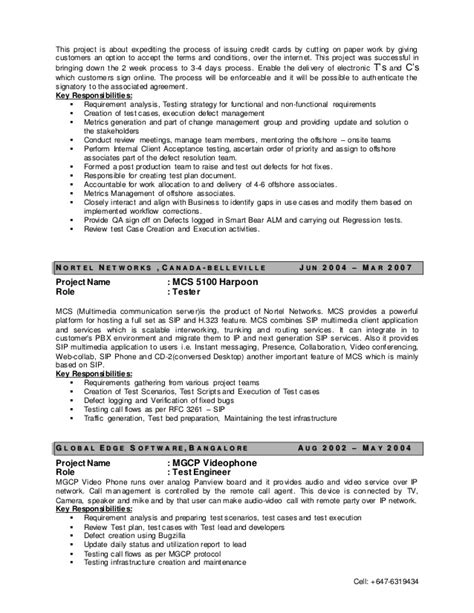 Test Manager Resume by Test Manager Resume