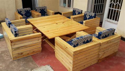 wood pallets outdoor sofa  adjustable table wood