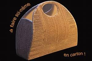 Objet En Carton Facile A Faire : faire un sac main en carton et apprendre faire du cartonnage ~ Melissatoandfro.com Idées de Décoration