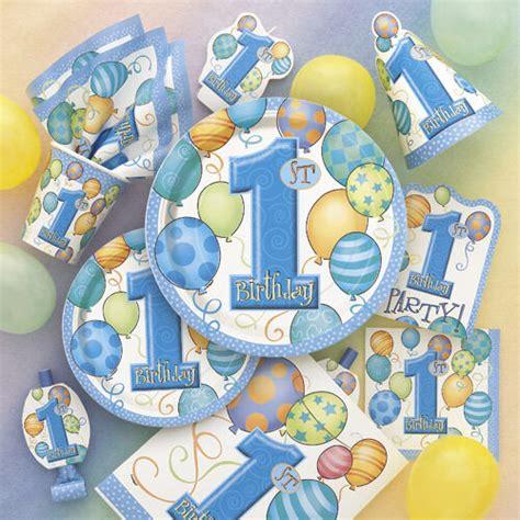1 kindergeburtstag deko 1 kindergeburtstag baby deko 1 geburtstag junge blau neu set dekoration ebay