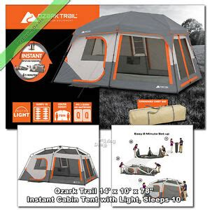 ozark trail  person family tent  room    instant cabin outdoor camping ebay