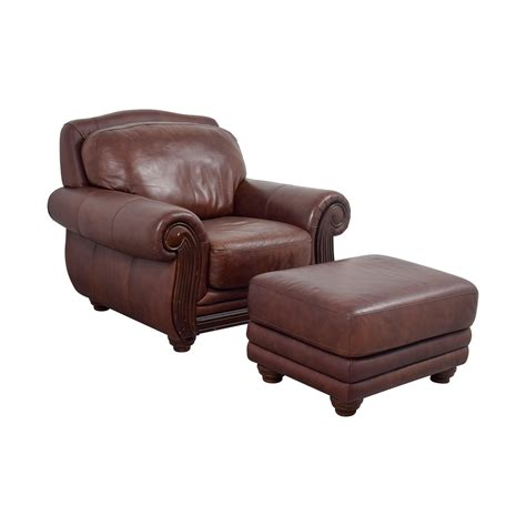 rooms to go ottoman 54 off rooms to go rooms to go brown leather chair and
