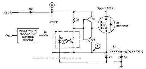 Build High Voltage Bucking Regulator Circuit Diagram