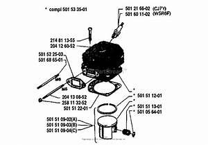 Husqvarna 61  1980 Cylinder