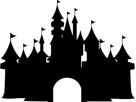 Disney Castle Clipart Disney Castle Silhouette Free Vector Silhouettes