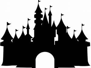 Disney Castle Silhouette   Free vector silhouettes