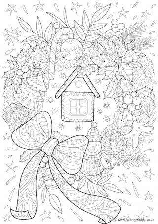 advent wreath coloring page christmas coloring  kids