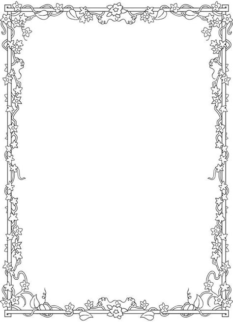 flower border colouring pages colourskids info floral coloring coloring pages adult coloring