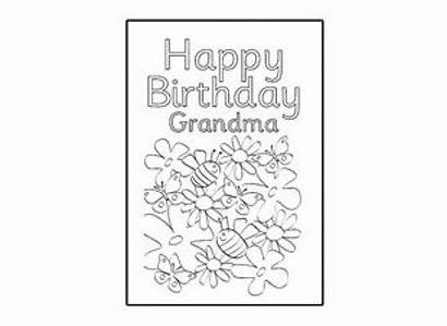 Birthday Cards Happy Card Grandma Printable Template