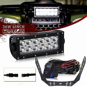 Universal Spot 6inch Led Light Bar W   Handlebar Mounting