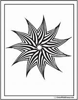 Geometric Coloring Pages Pinwheel Patterns Star Point Pattern Geometrical Drawing Colorwithfuzzy Designs Printable Colouring Customize Templates Detailed Getcolorings Colour Getdrawings sketch template