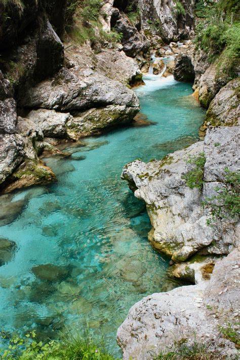 Soca Or Isonzo River Is One Of The Most Beautiful Rivers