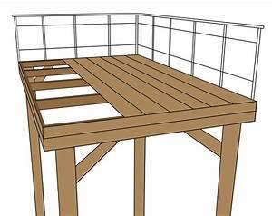 poser une terrasse sur pilotis blog terrasse bois With terrasse bois pilotis plan