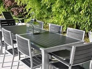 Table De Jardin Solde : ensemble table et chaise de jardin pas cher table de jardin exterieur maisonjoffrois ~ Teatrodelosmanantiales.com Idées de Décoration