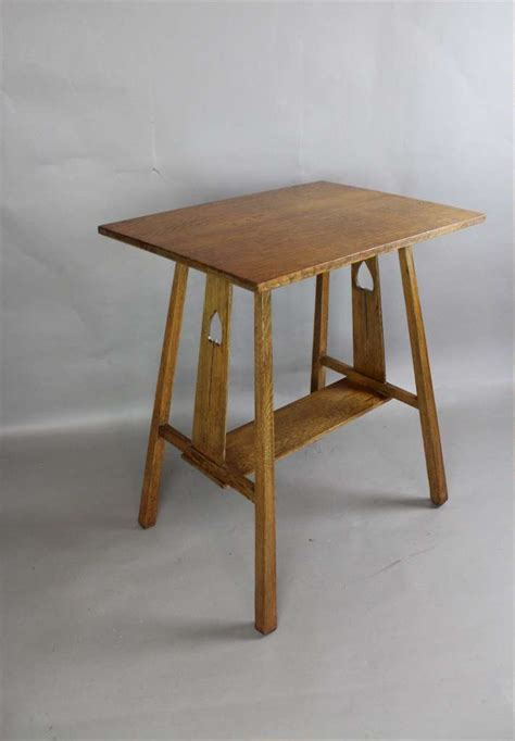 arts and crafts table ls arts and crafts golden oak occasional l table