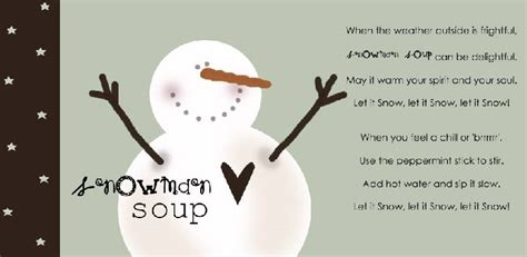 snowman soup  girl creative