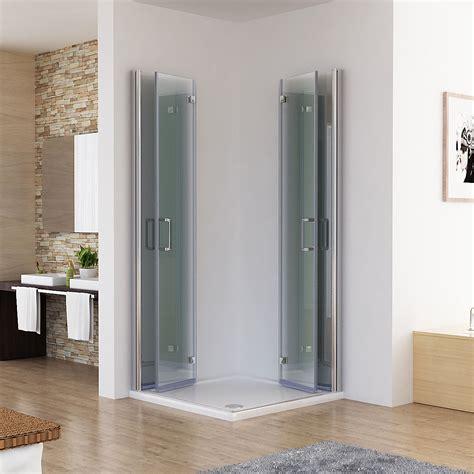 Duschkabine Eckeinstieg Dusche 180° Falttür Duschwand