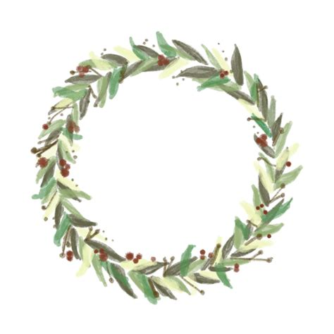 Transparent Background Wreath Clip Images by Painted Wreath Graphic Free On Behance