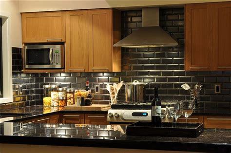 black backsplash kitchen beveled tile beveled subway tile westside tile and