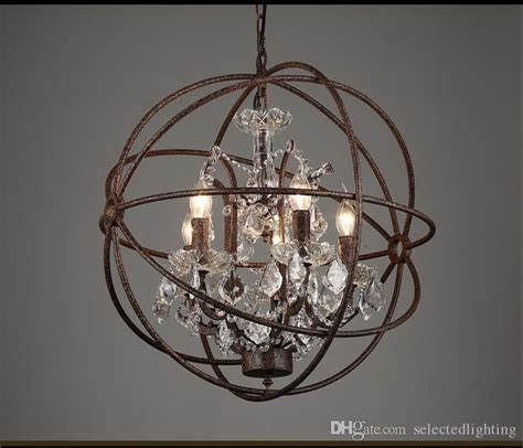 rustic orb chandelier rh industrial lighting restoration hardware vintage