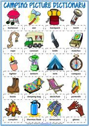 kartinki po zaprosu camping vocabulary vocabulaire