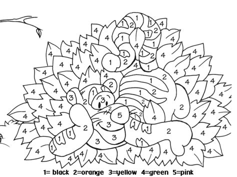 Coloring With Number by Number Coloring Pages 6 Coloring
