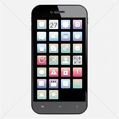 Mobile Icons Unlock Samsung Phone Vector Cellunlocker