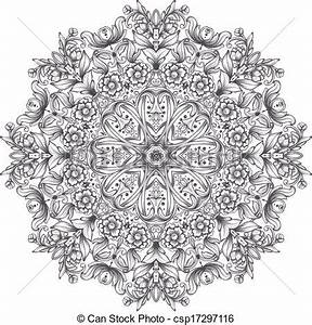 Round detailed pattern vector clip art - Search