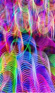 Colorful neon defocused lights patterned background | free ...