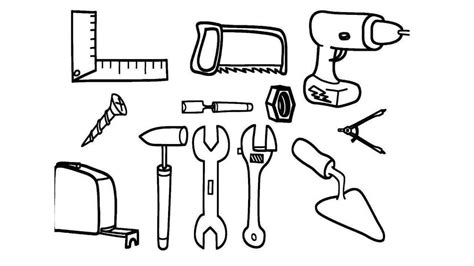 tools coloring pages power hand  boys  printable