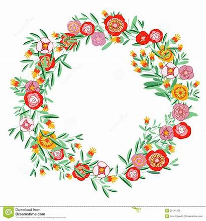 Wreath Floral Clipart Half Coral Royalty Flowers