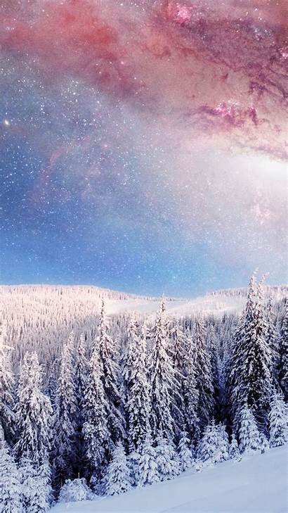 Iphone Winter Forest Galaxy Earth Japan Wallpapers