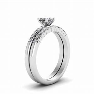 14k white gold cz wedding ring sets unusual navokalcom for Cz wedding ring sets white gold