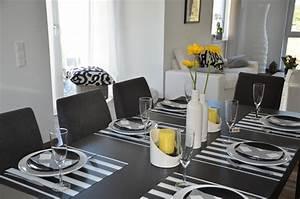 Tischdeko Schwarz Weiß Ideen : farbtrend 2015 deko in schwarz wei und gelb tiziano ~ Bigdaddyawards.com Haus und Dekorationen