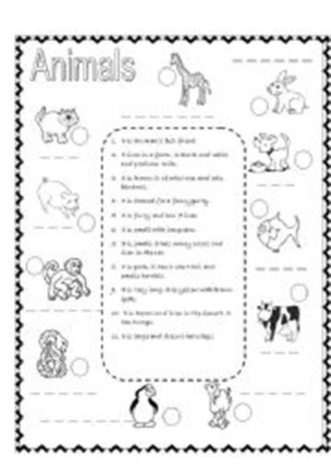 describing animals worksheets