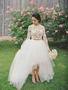 20 gorgeous two piece wedding dresses southbound bride With two piece wedding dress