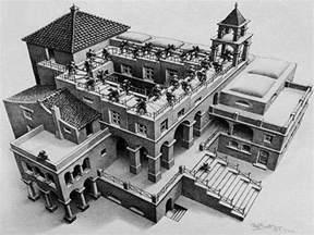 Maurits Cornelis Escher Escalier by A Gallery Of Art By Mc Escher Ned Hardy