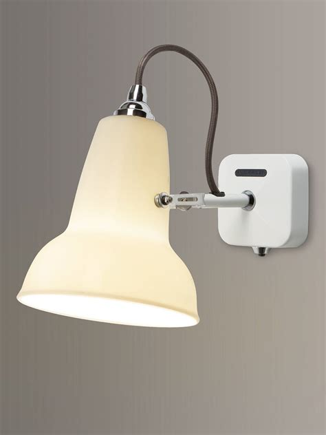 anglepoise 1227 ceramic wall light white at lewis partners