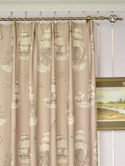 poseidon nautical print blackout custom made curtains