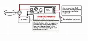 Dc 12v Adjustable 10s Delay Time Turn On Switch Relay